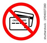 credit card ban icon. credit... | Shutterstock .eps vector #1904037280