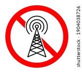 no signal. antenna ban icon.... | Shutterstock .eps vector #1904038726