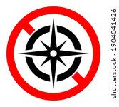 compass ban icon. compass is... | Shutterstock .eps vector #1904041426