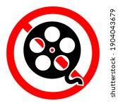 movie viewing is forbidden.... | Shutterstock .eps vector #1904043679