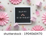 Text Happy Birthday On Letter...