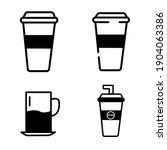cup icon in trendy flat style.  ...