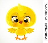 cute cartoon yellow chicken...   Shutterstock .eps vector #1904092099