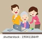 adult online education concept... | Shutterstock .eps vector #1904118649