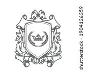 luxury imperial coat of arms... | Shutterstock .eps vector #1904126359