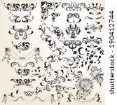 vector set of calligraphic... | Shutterstock .eps vector #190412744