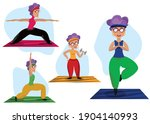 active and healthy lifestyle of ... | Shutterstock .eps vector #1904140993