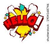 comic speech bubbles with text... | Shutterstock .eps vector #1904168746