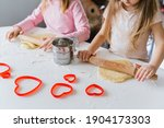 Little Girls  Sisters Cooking...