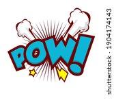 comic speech bubbles with text... | Shutterstock .eps vector #1904174143