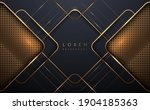 abstract golden lines luxury... | Shutterstock .eps vector #1904185363