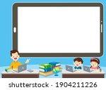 children online learning... | Shutterstock .eps vector #1904211226