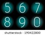 vector mesh realistic numbers... | Shutterstock .eps vector #190422800