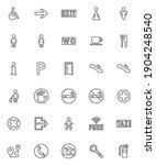 public navigation signs line...   Shutterstock .eps vector #1904248540