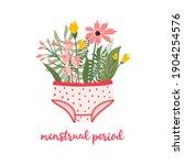 menstrual period. women's... | Shutterstock .eps vector #1904254576