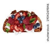 Mascarpone And Berries Toast...