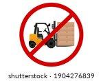 forklift truck yellow color... | Shutterstock .eps vector #1904276839