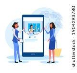 online webinar or seminar with... | Shutterstock .eps vector #1904293780