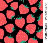 cute strawberries seamless...   Shutterstock .eps vector #1904293870