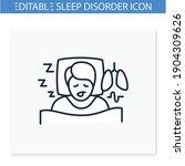 sleep study line icon. unusual... | Shutterstock .eps vector #1904309626