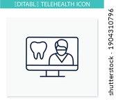 teledentistry line icon.... | Shutterstock .eps vector #1904310796