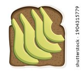 sandwich with black toast bread ... | Shutterstock .eps vector #1904315779