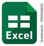 excel icon   major file format...   Shutterstock .eps vector #1904318653