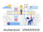 blogging crossword vector...   Shutterstock .eps vector #1904335510