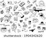 set of broken heart stickers.... | Shutterstock .eps vector #1904342620