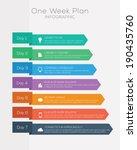 seven day plan infographics set ... | Shutterstock .eps vector #190435760