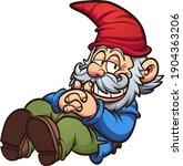 garden gnome in a resting... | Shutterstock .eps vector #1904363206