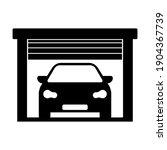 garage open door and vehicle... | Shutterstock .eps vector #1904367739