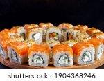 philadelphia roll with salmon ...   Shutterstock . vector #1904368246