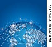global technology mesh network... | Shutterstock .eps vector #190438586