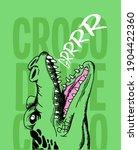 Fierce Crocodile Head  Big...