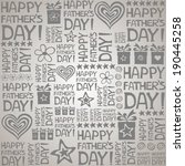 happy father day. seamless... | Shutterstock .eps vector #190445258