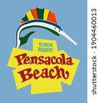 pensacola beach beach is a town ... | Shutterstock .eps vector #1904460013