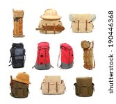 travel bags and backpacks for... | Shutterstock . vector #190446368