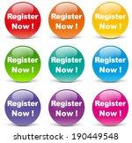 vector illustration of register ... | Shutterstock .eps vector #190449548