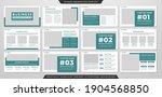 business presentation layout...   Shutterstock .eps vector #1904568850