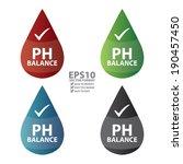 vector   colorful ph balance... | Shutterstock .eps vector #190457450