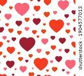 seamless vector pattern red... | Shutterstock .eps vector #1904577013