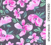 artistic floral background.... | Shutterstock .eps vector #1904615080