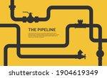 pipeline infographic. oil ... | Shutterstock .eps vector #1904619349