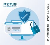 password manager theme with... | Shutterstock .eps vector #1904627383