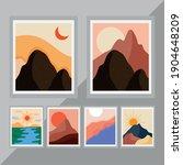 bundle of six abstract... | Shutterstock .eps vector #1904648209