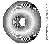 flow lines in circle form .... | Shutterstock .eps vector #1904648776