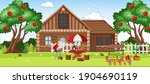 countryside rural house... | Shutterstock .eps vector #1904690119