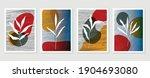 botanical wall art vector...   Shutterstock .eps vector #1904693080