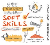 soft skills complement hard... | Shutterstock .eps vector #190469420